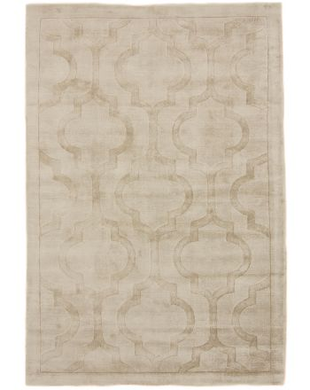 Viscose Vloerkleed Visconti Trellis Beige
